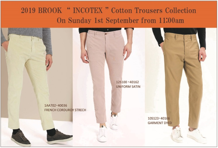"2019 BROOK "" INCOTEX "" Cotton Trousers Collection"