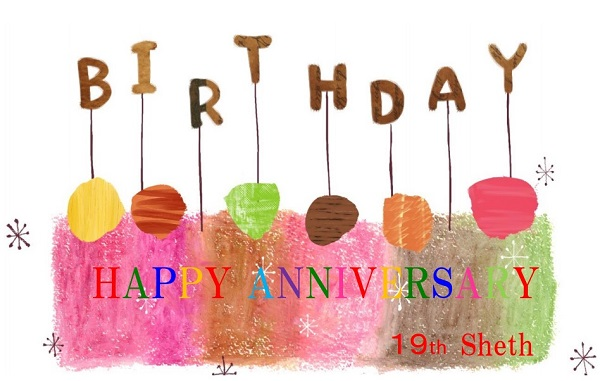 HAPPY ANNIVERSARY 19th Sheth